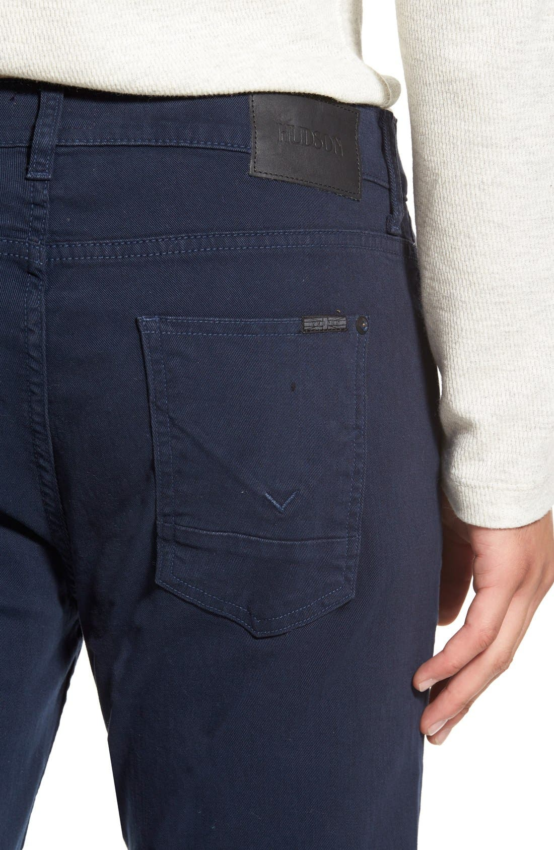 Alternate Image 4  - Hudson Jeans Blake Slim Fit Jeans (Covert Blue)