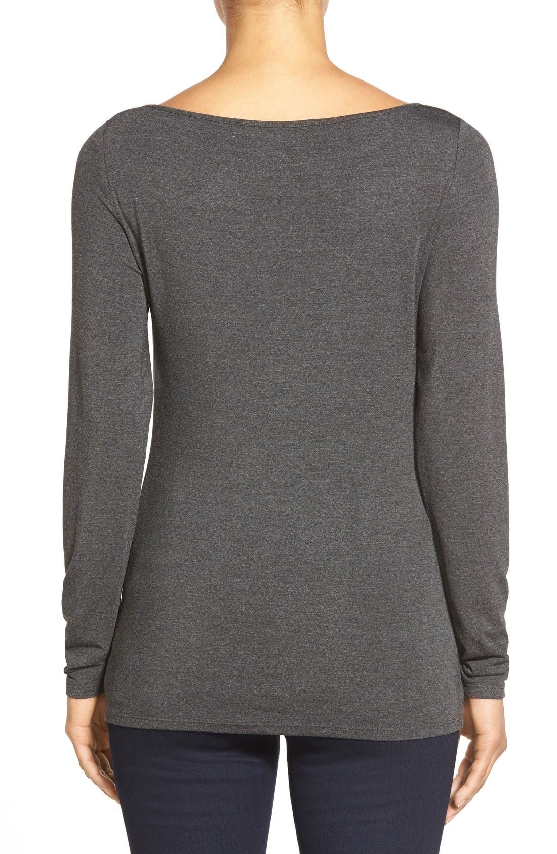 Alternate Image 2  - Nordstrom Collection Modal Blend Jersey Top