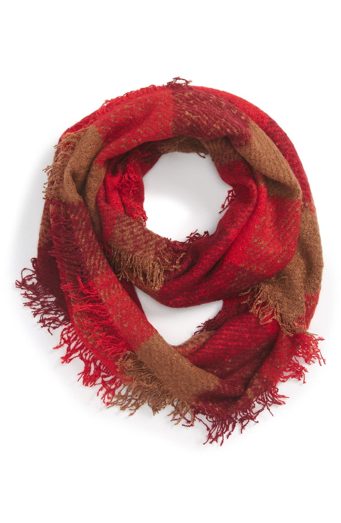 Alternate Image 1 Selected - Collection XIIXPlaid Woven Infinity Scarf