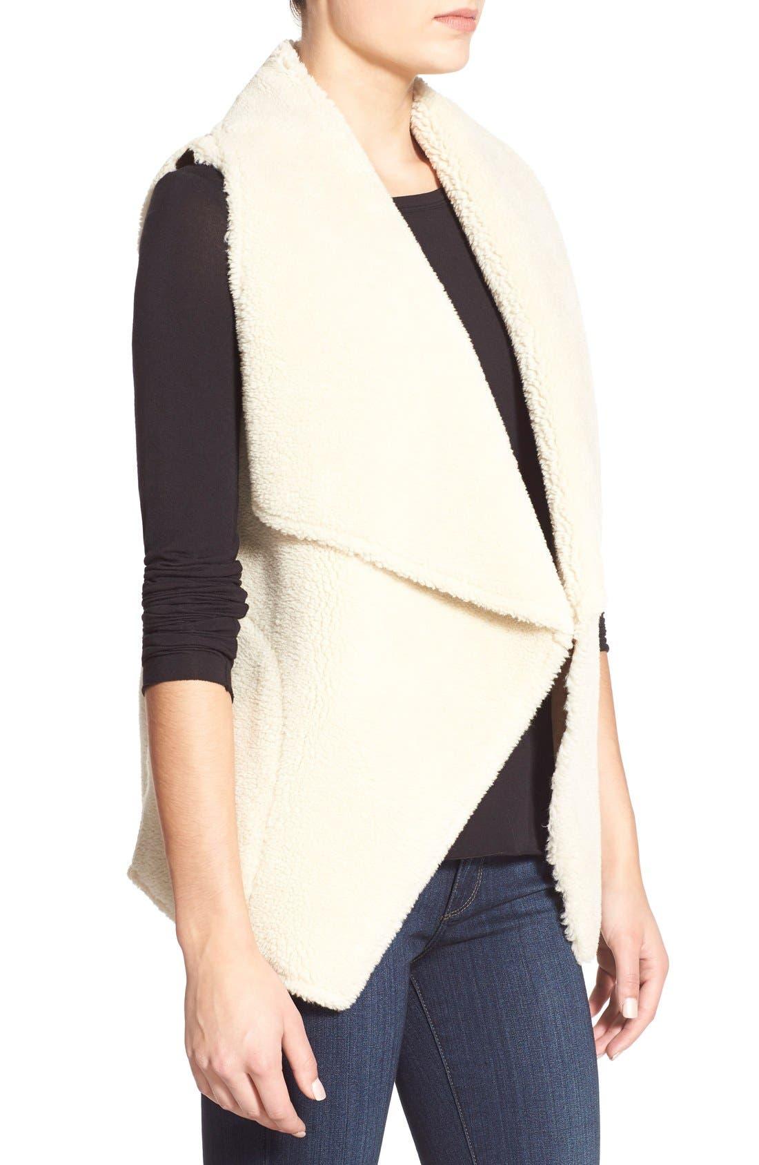 Alternate Image 3  - Velvet by Graham & Spencer Reversible Faux Shearling Vest