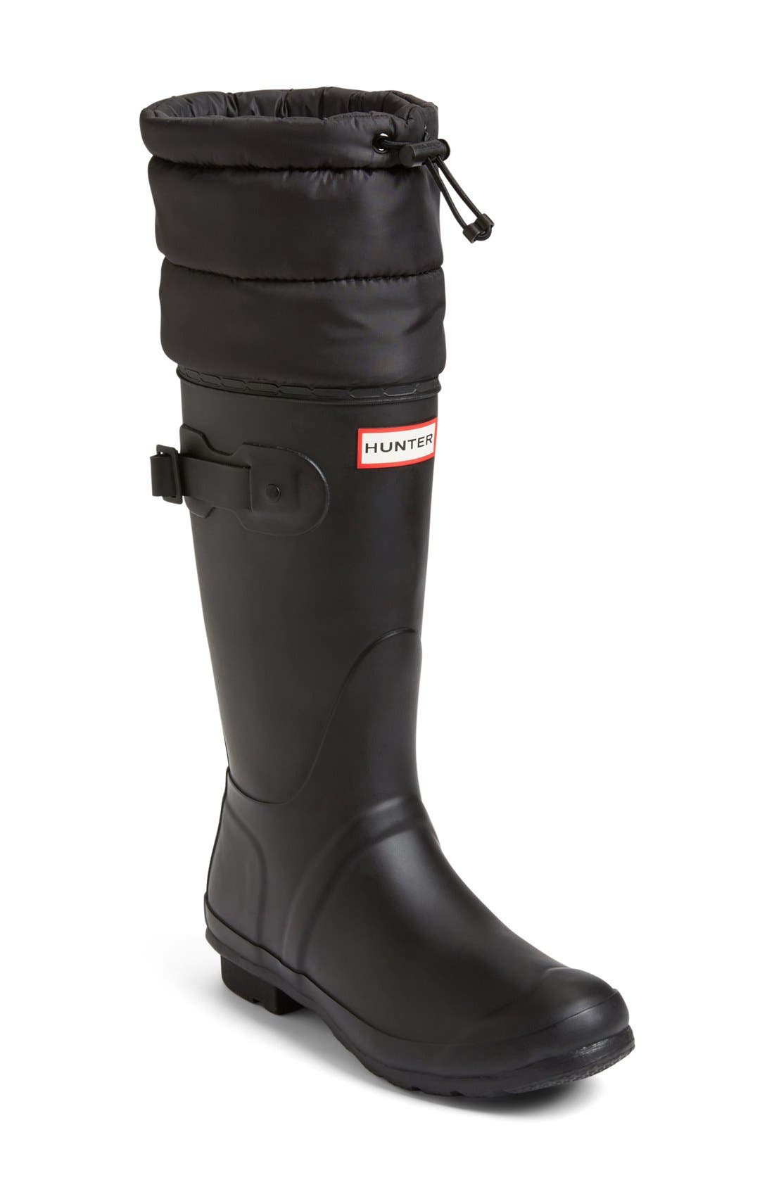 Main Image - Hunter 'Original - Quilted Cuff' Rain Boot (Women)