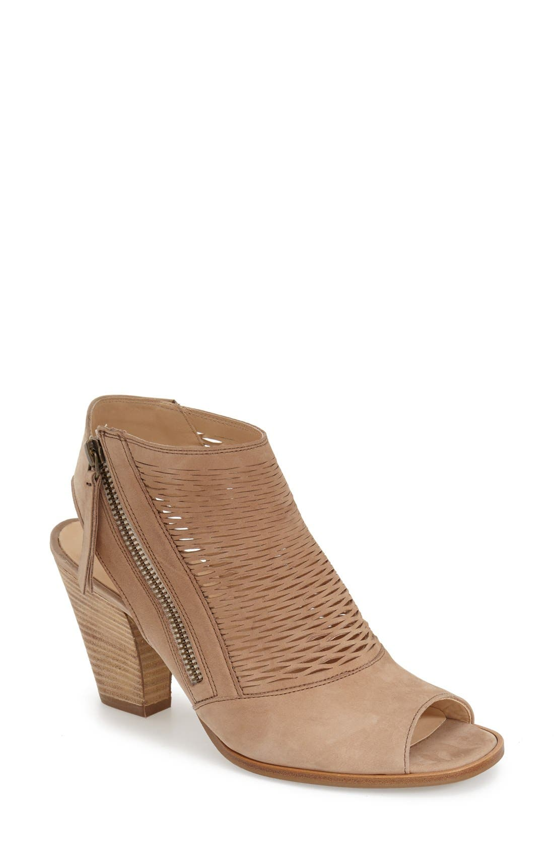 'Willow' Peep Toe Sandal,                         Main,                         color, Sisal Leather