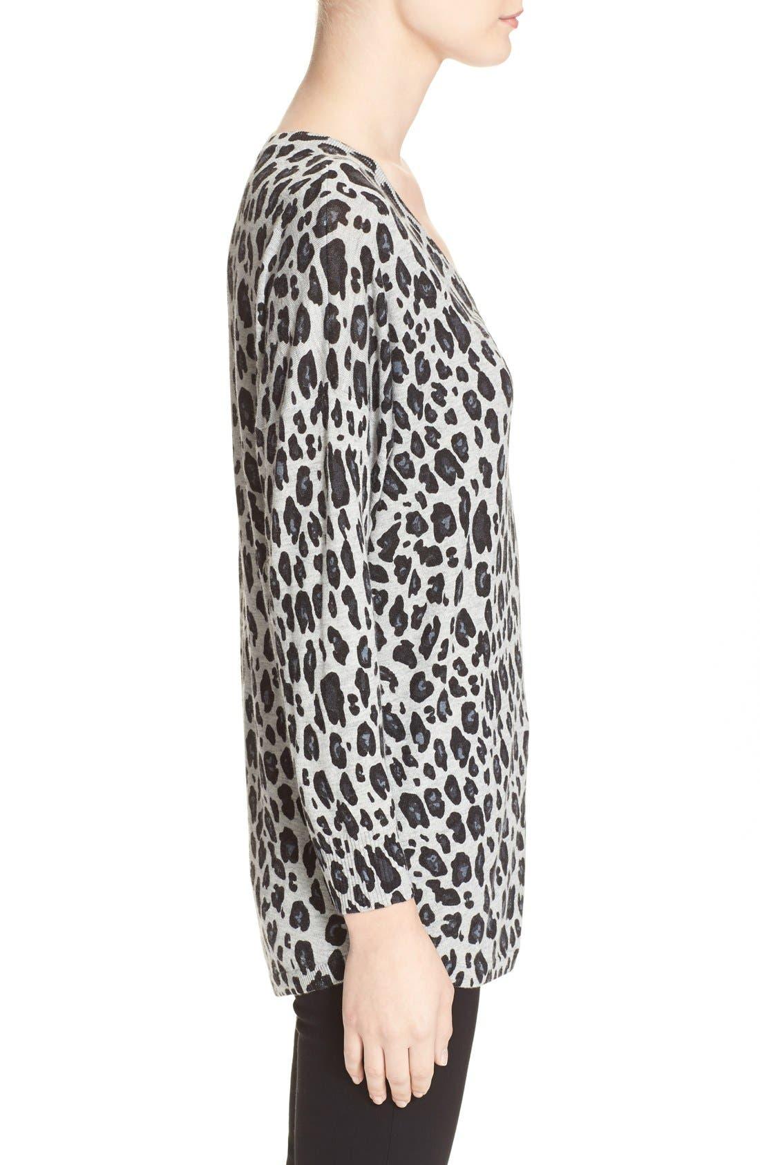 Alternate Image 3  - Joie'Chyanne' Leopard Print V-Neck Pullover