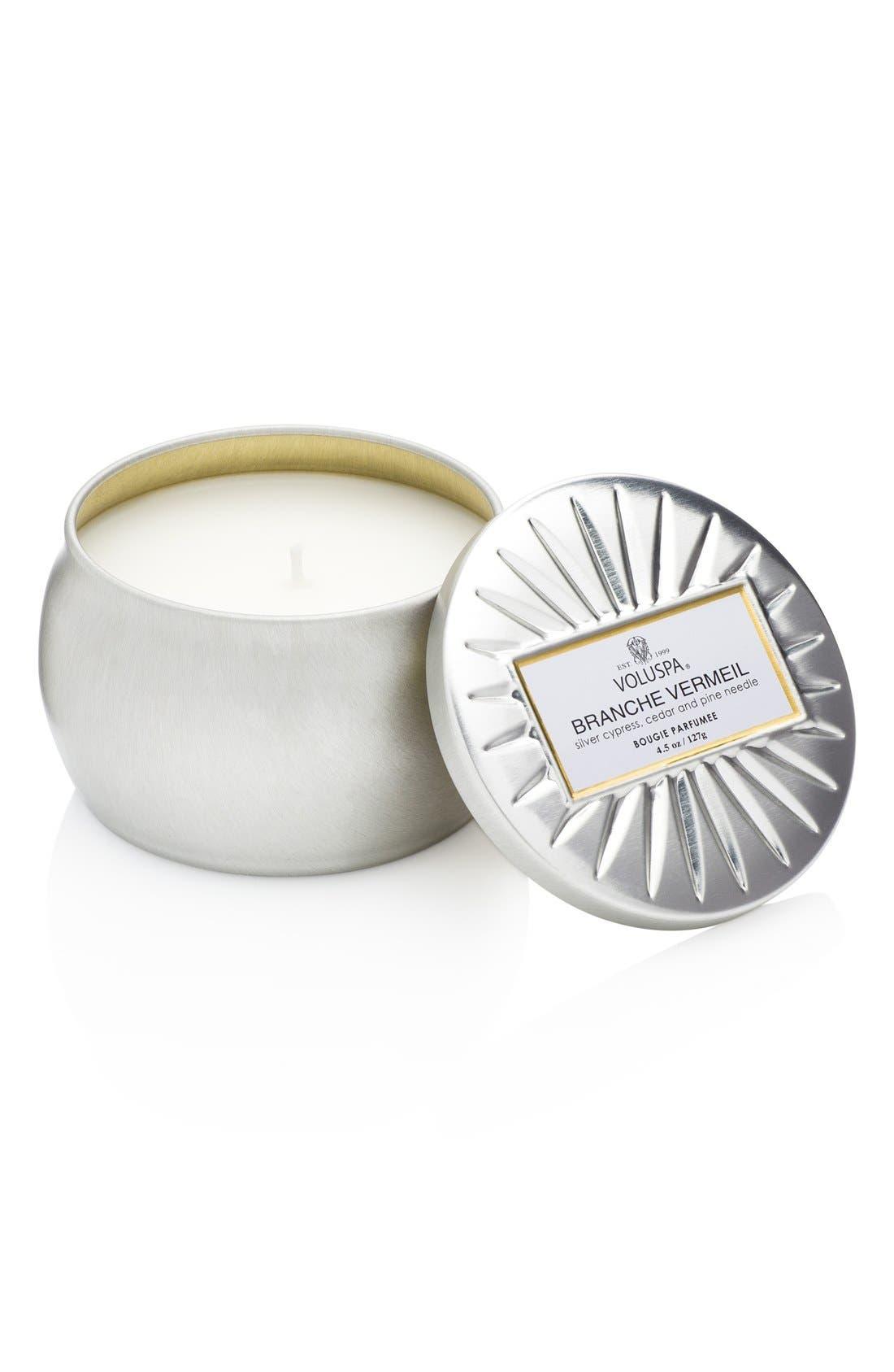 Main Image - Voluspa 'Vermeil - Branche Vermeil' Mini Tin Candle