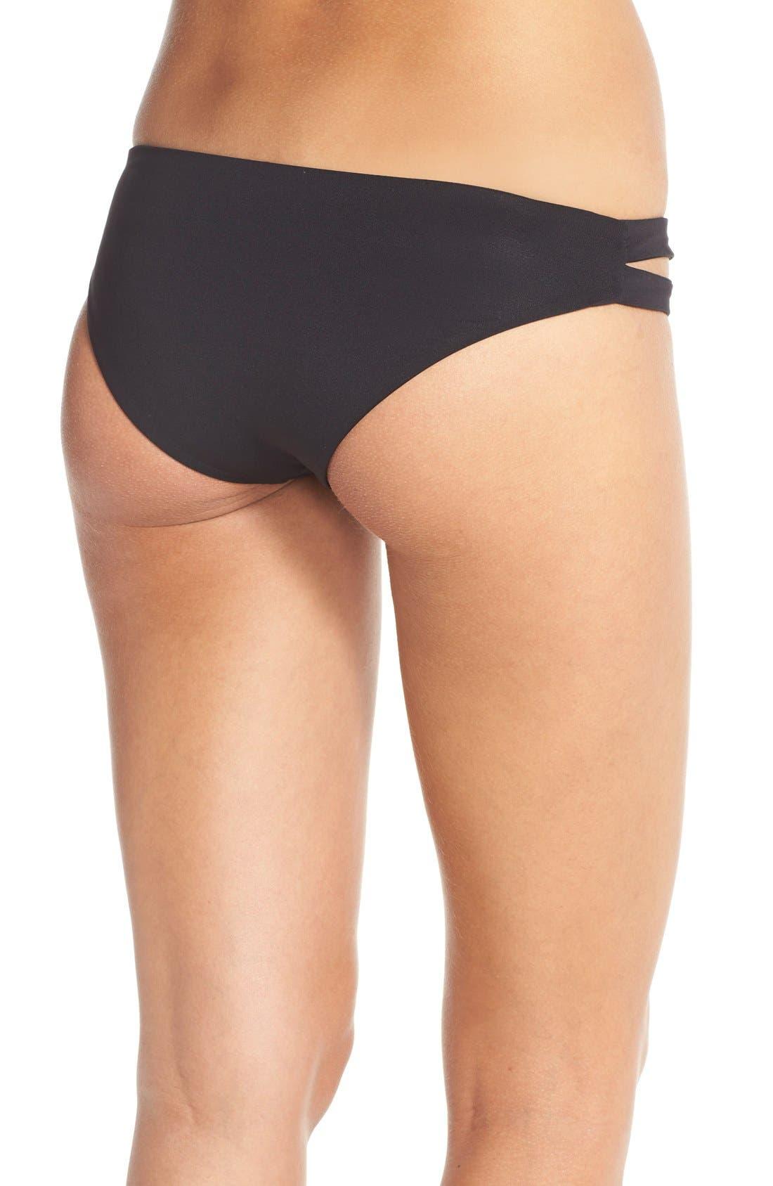 Estella Classic Bikini Bottoms,                             Alternate thumbnail 2, color,                             Black