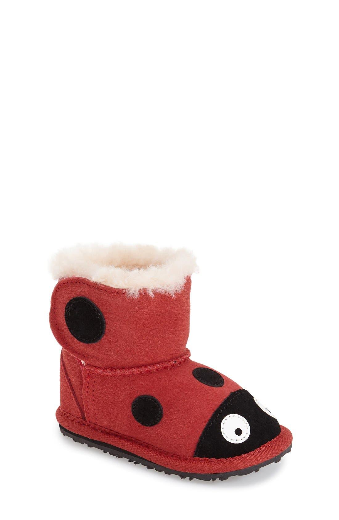 Alternate Image 1 Selected - EMU Australia 'Ladybug' Boot (Baby & Walker)
