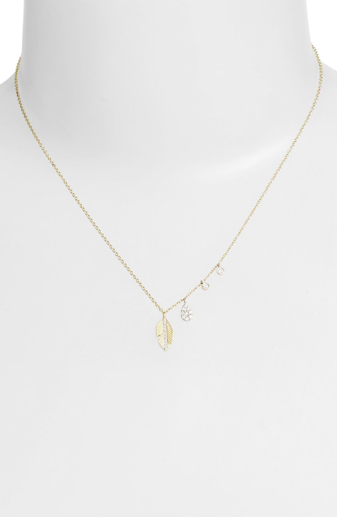 Alternate Image 2  - Meira T Leaf Pendant Necklace