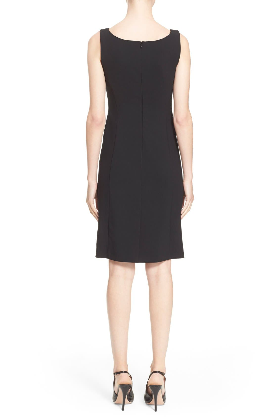 Alternate Image 2  - Armani Collezioni Featherweight Wool Dress