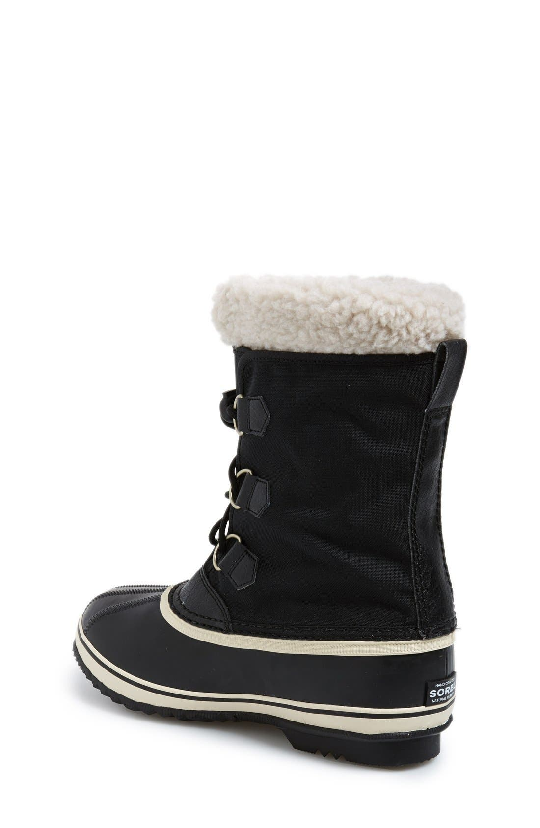 'Yoot Pac' Waterproof Snow Boot,                             Alternate thumbnail 2, color,                             Black