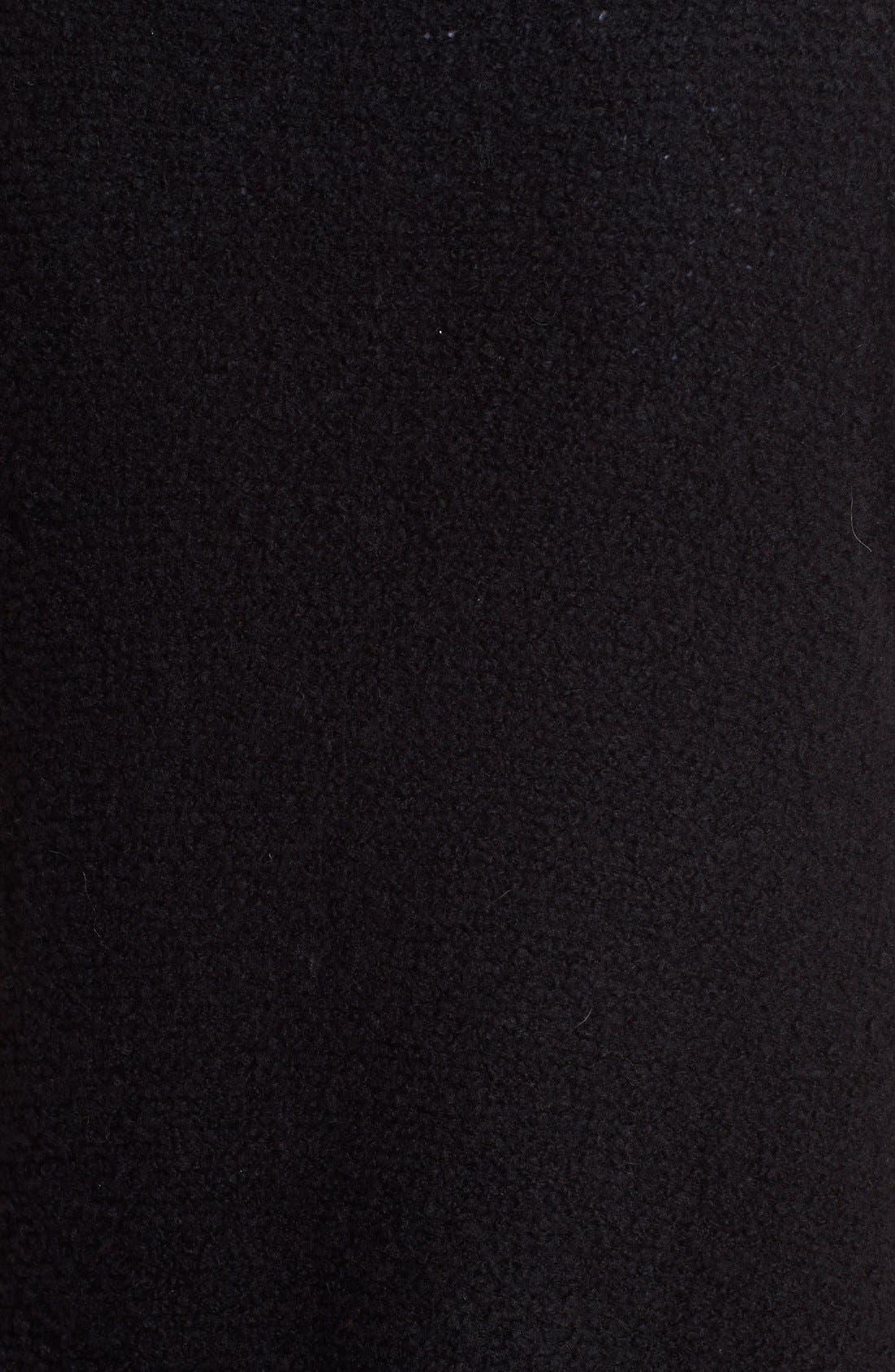 Bouclé Cashmere Open Front Vest,                             Alternate thumbnail 3, color,                             Black
