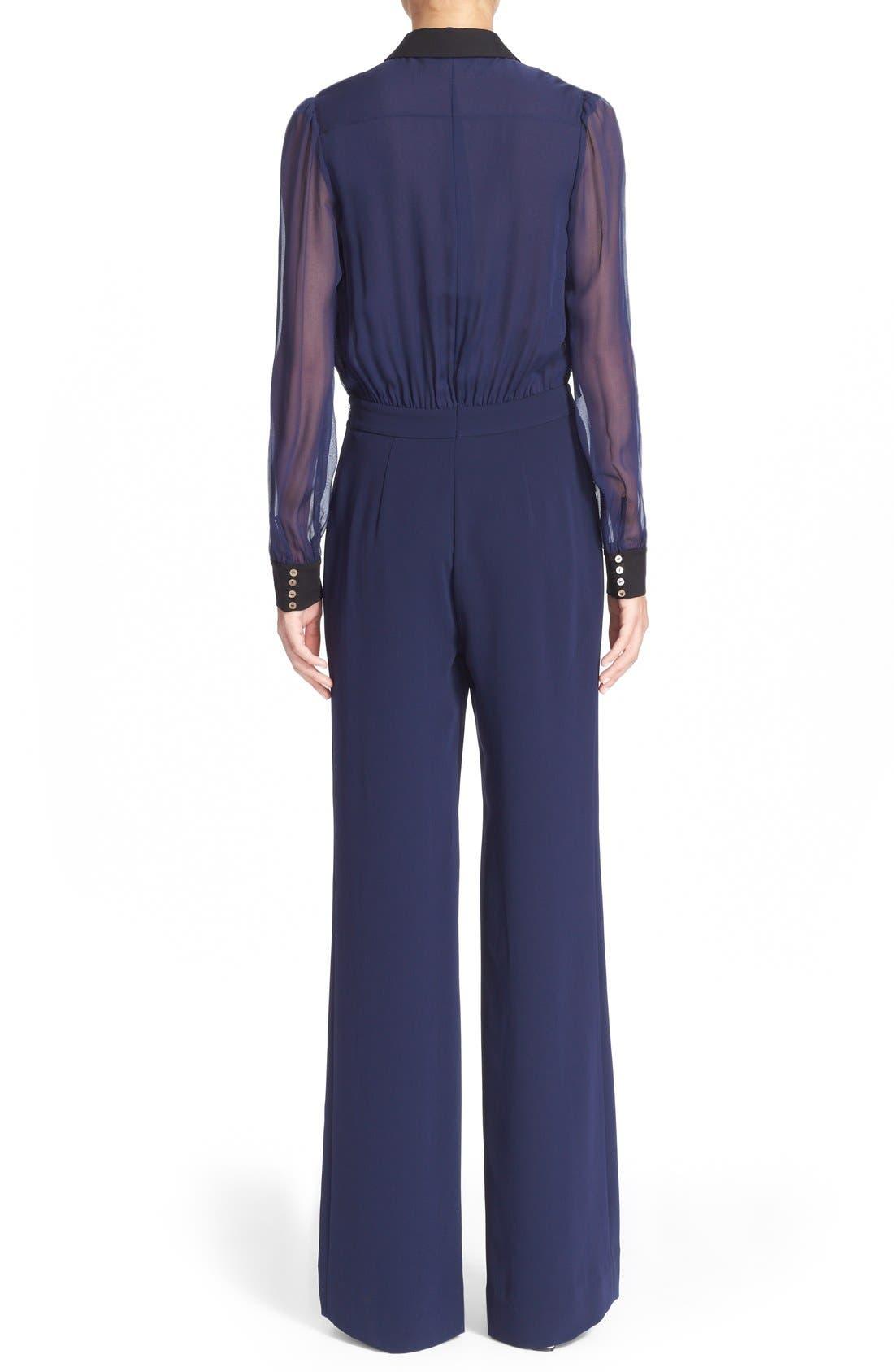 Alternate Image 2  - Diane von Furstenberg 'Mariah' Silk Jumpsuit