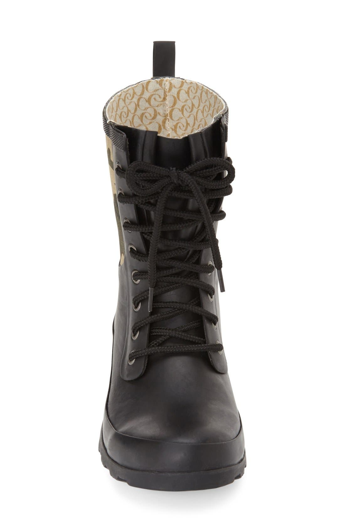 Alternate Image 3  - Chooka 'Cara' Mid High Lace-Up Rain Boot (Women)