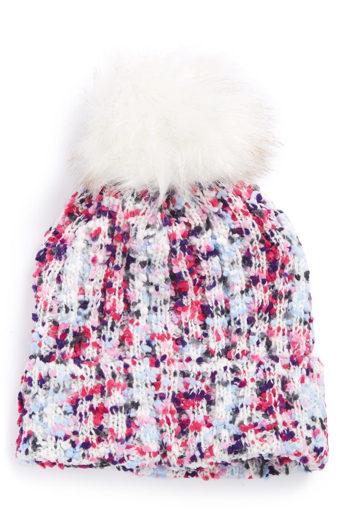 Main Image - Tucker + Tate Pompom Marled Beanie (Big Girls)