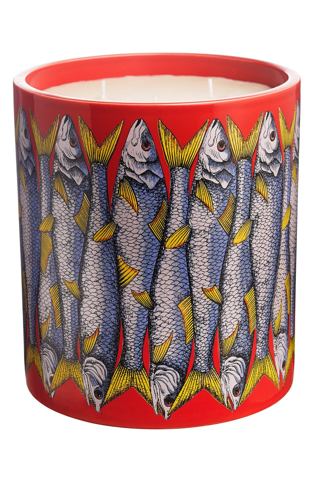 Fornasetti 'Sardine Rosso - Otto' Large Candle