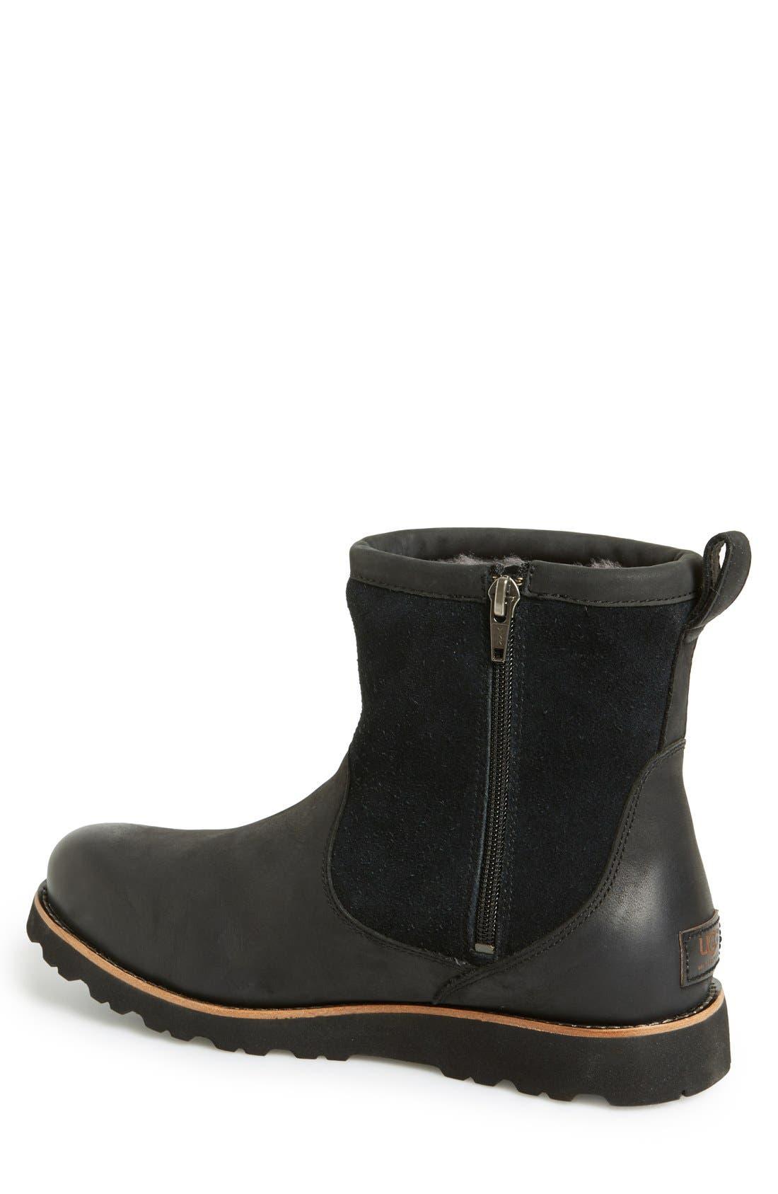 Hendren TL Waterproof Zip Boot,                             Alternate thumbnail 2, color,                             Black