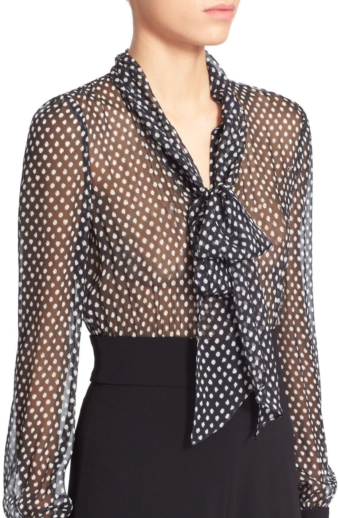 Alternate Image 4  - Diane von Furstenberg 'Arabella' Polka Dot Silk Jumpsuit