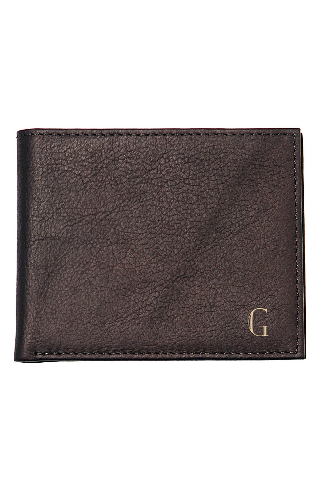 Alternate Image 1 Selected - Cathy's Concepts Monogram Bifold Wallet