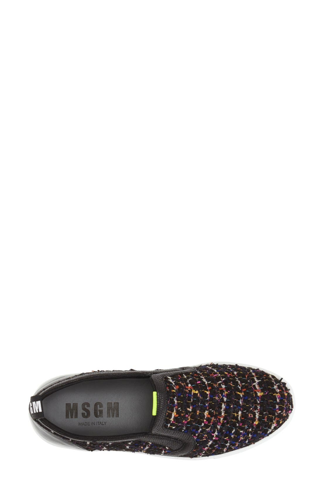 Alternate Image 3  - MSGM Tweed Platform Slip-On Sneaker (Women)