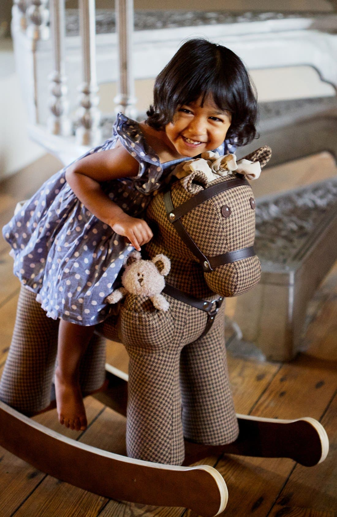 Rocking Horse & Stuffed Animal,                             Alternate thumbnail 2, color,                             Houndstooth