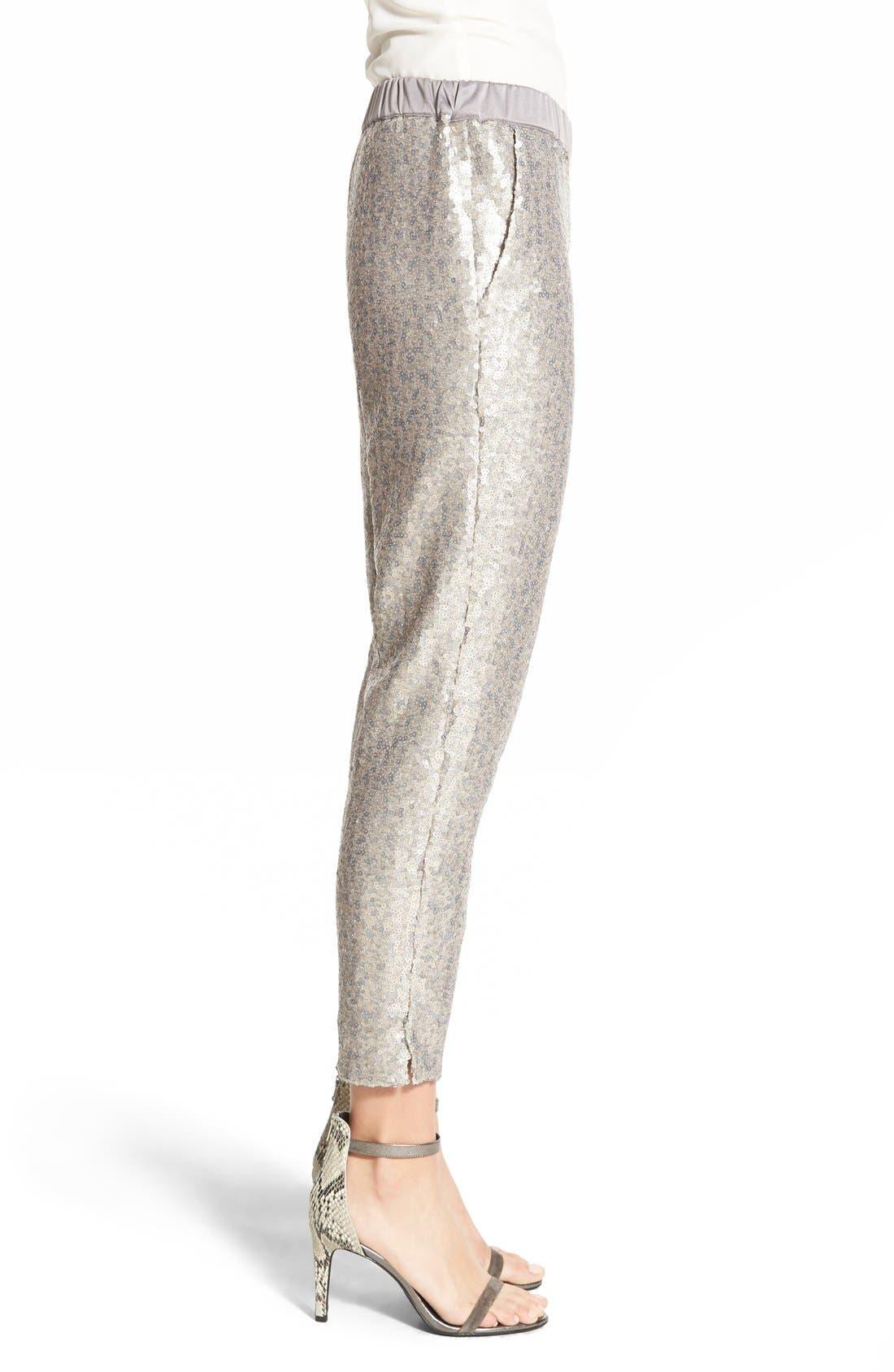 Alternate Image 4  - Chelsea28 Sequin Pants