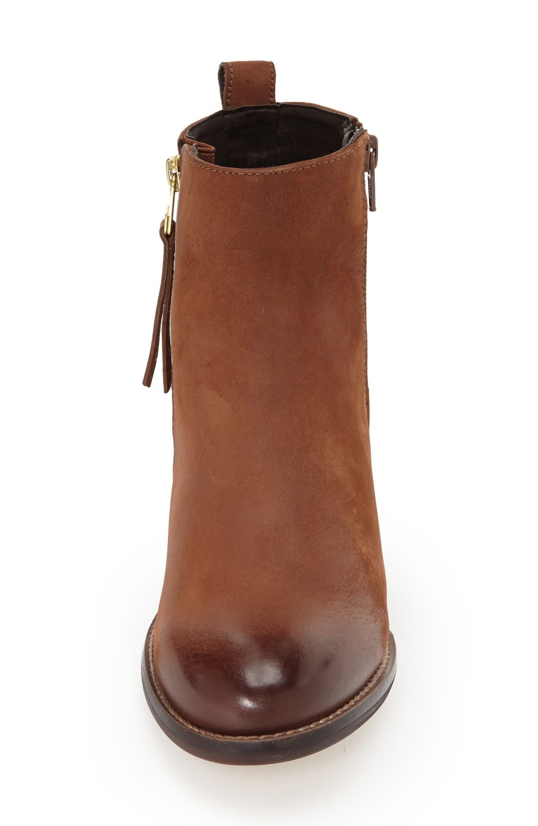 'Wantagh' Leather Ankle Boot,                             Alternate thumbnail 3, color,                             Cognac Leather