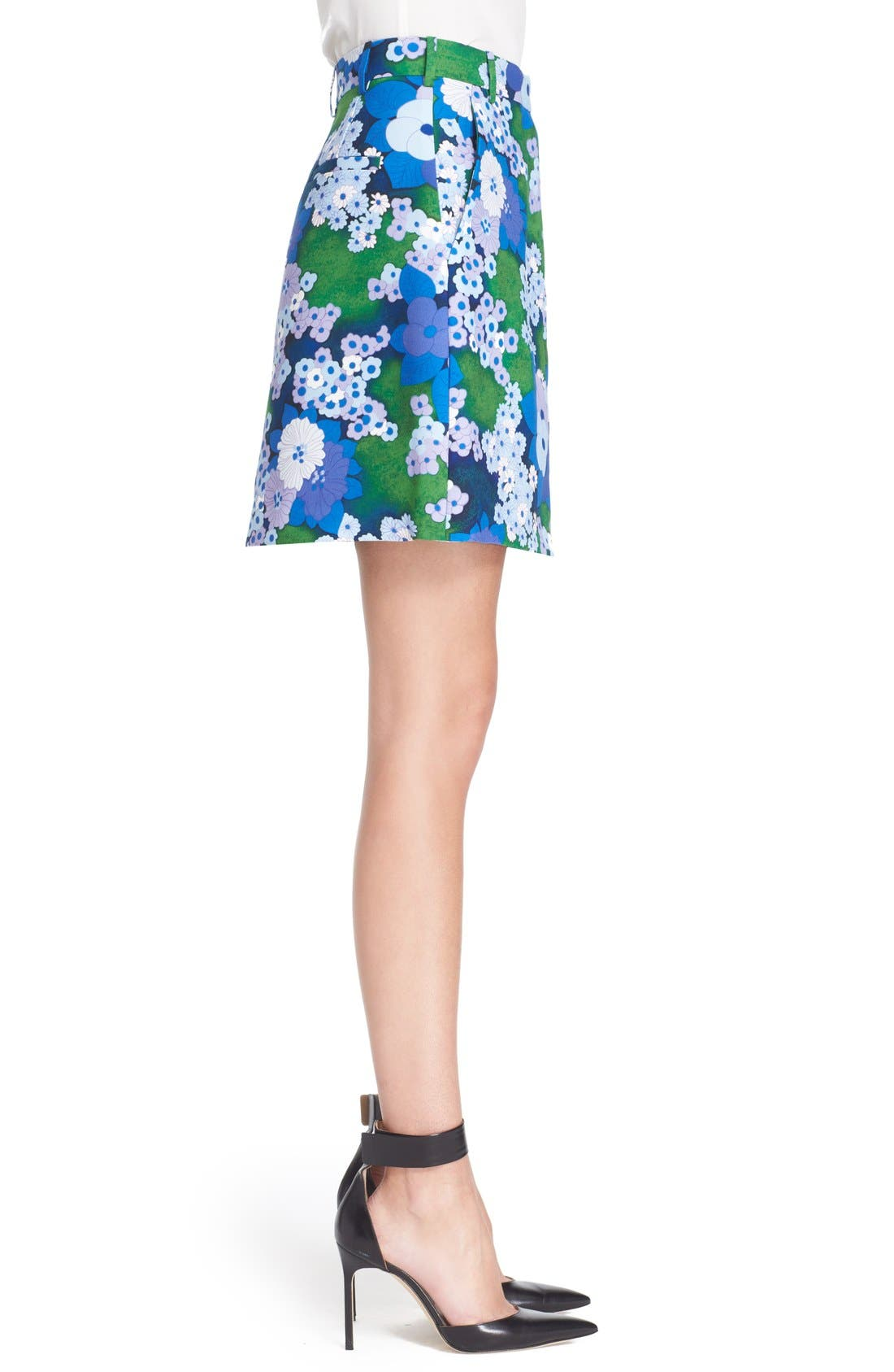 Alternate Image 3  - Carven Floral Print A-Line Skirt