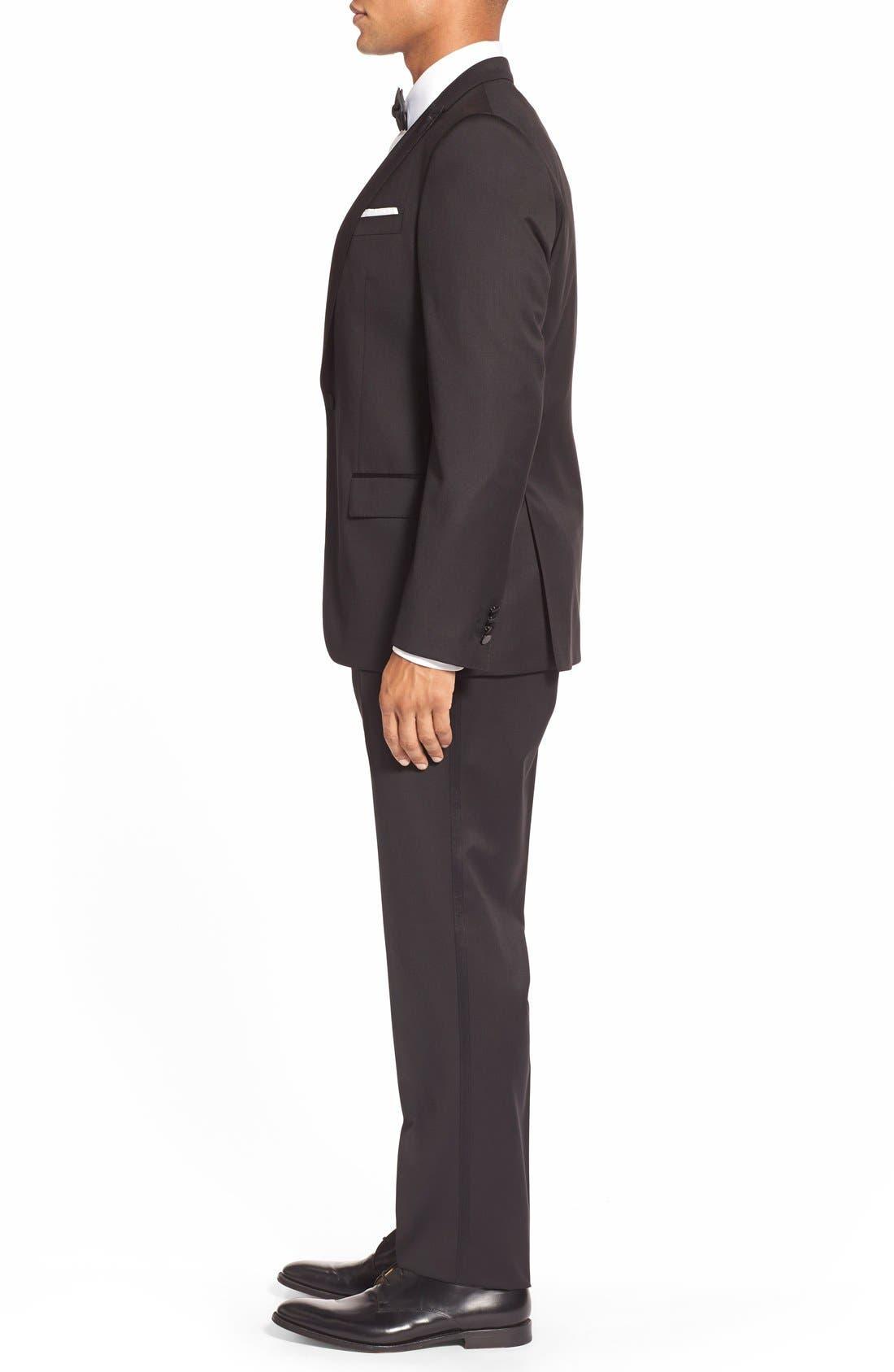 Alternate Image 3  - BOSS Trim Fit Wool Tuxedo