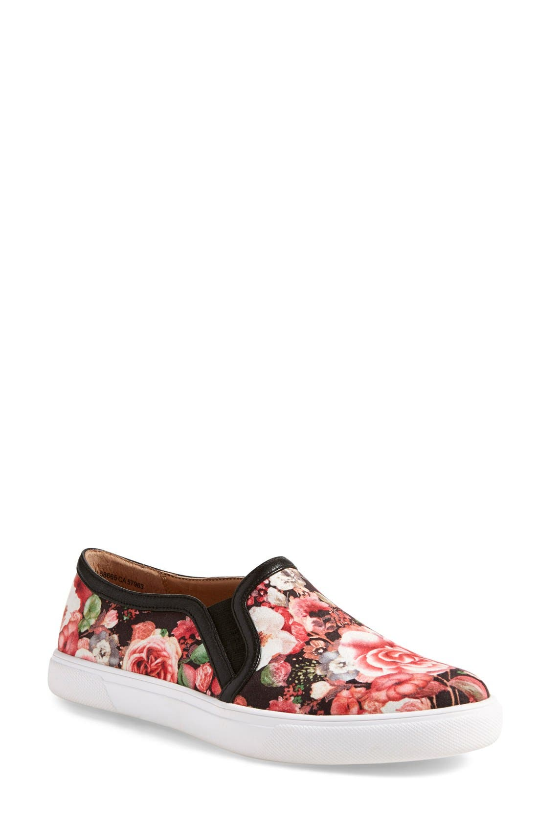'Turner' Slip-On Sneaker,                         Main,                         color, Rose Floral