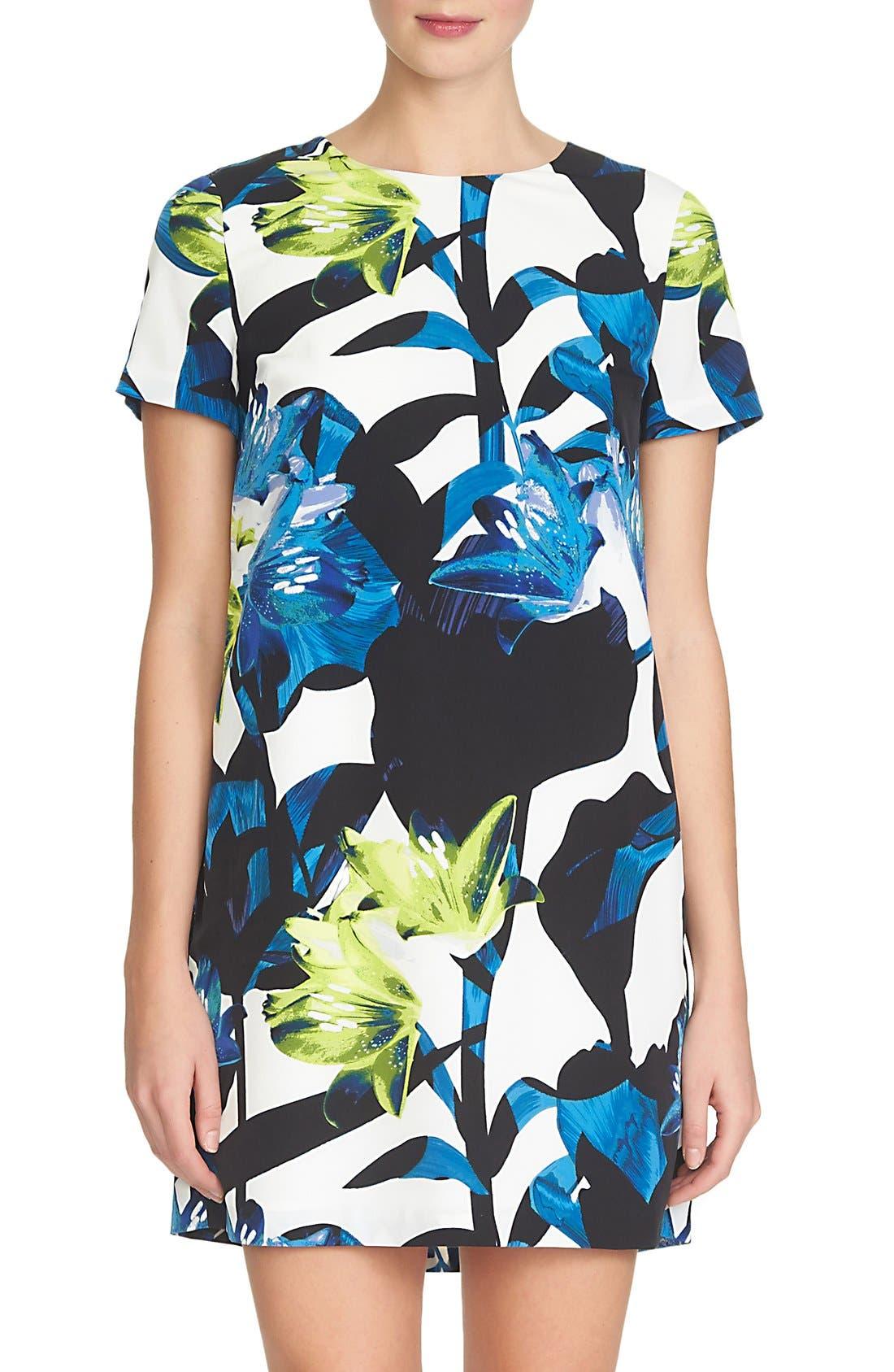 Main Image - 1.STATE Short Sleeve Shift Dress