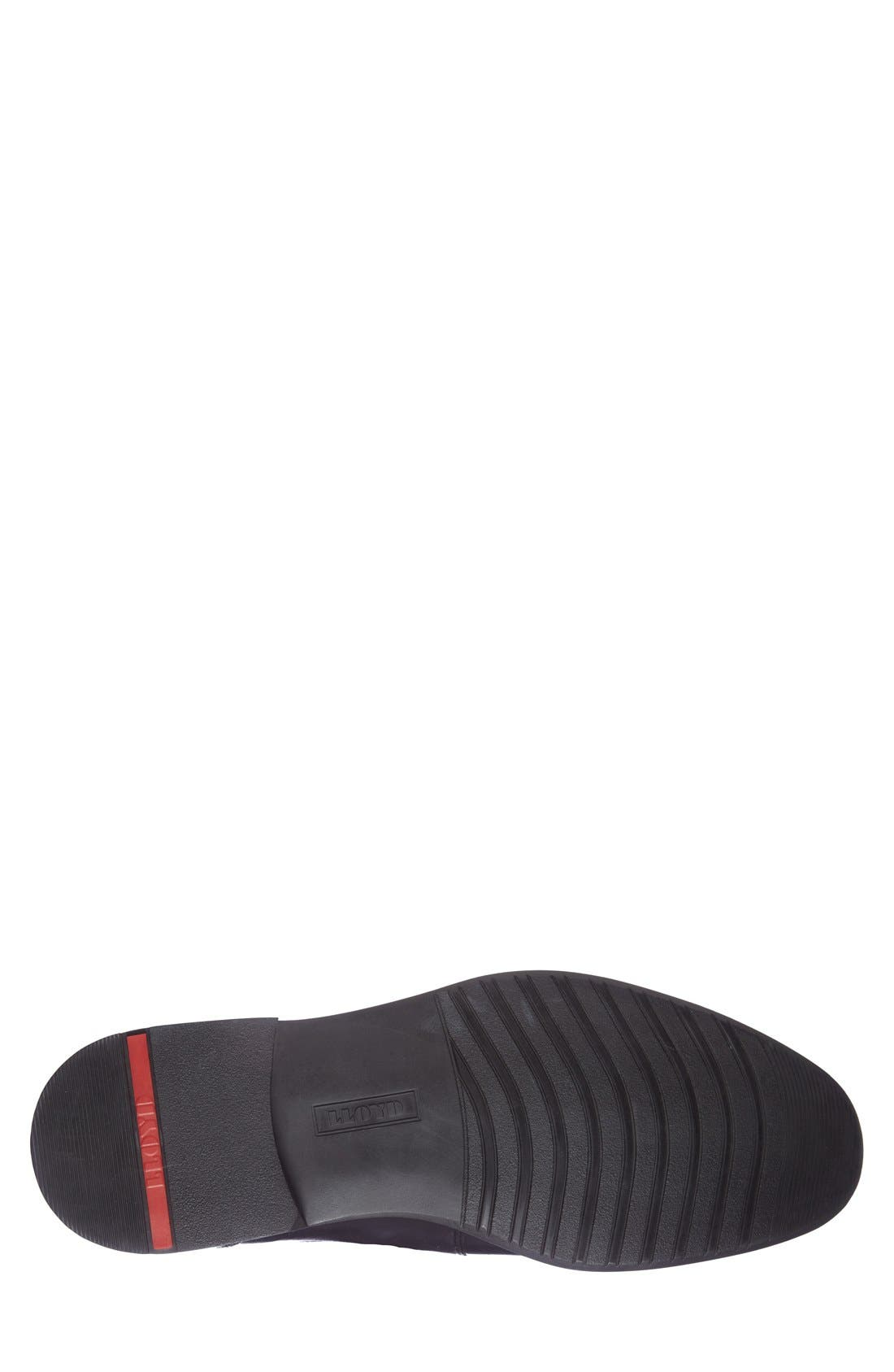 'Nante' Venetian Loafer,                             Alternate thumbnail 4, color,                             Black