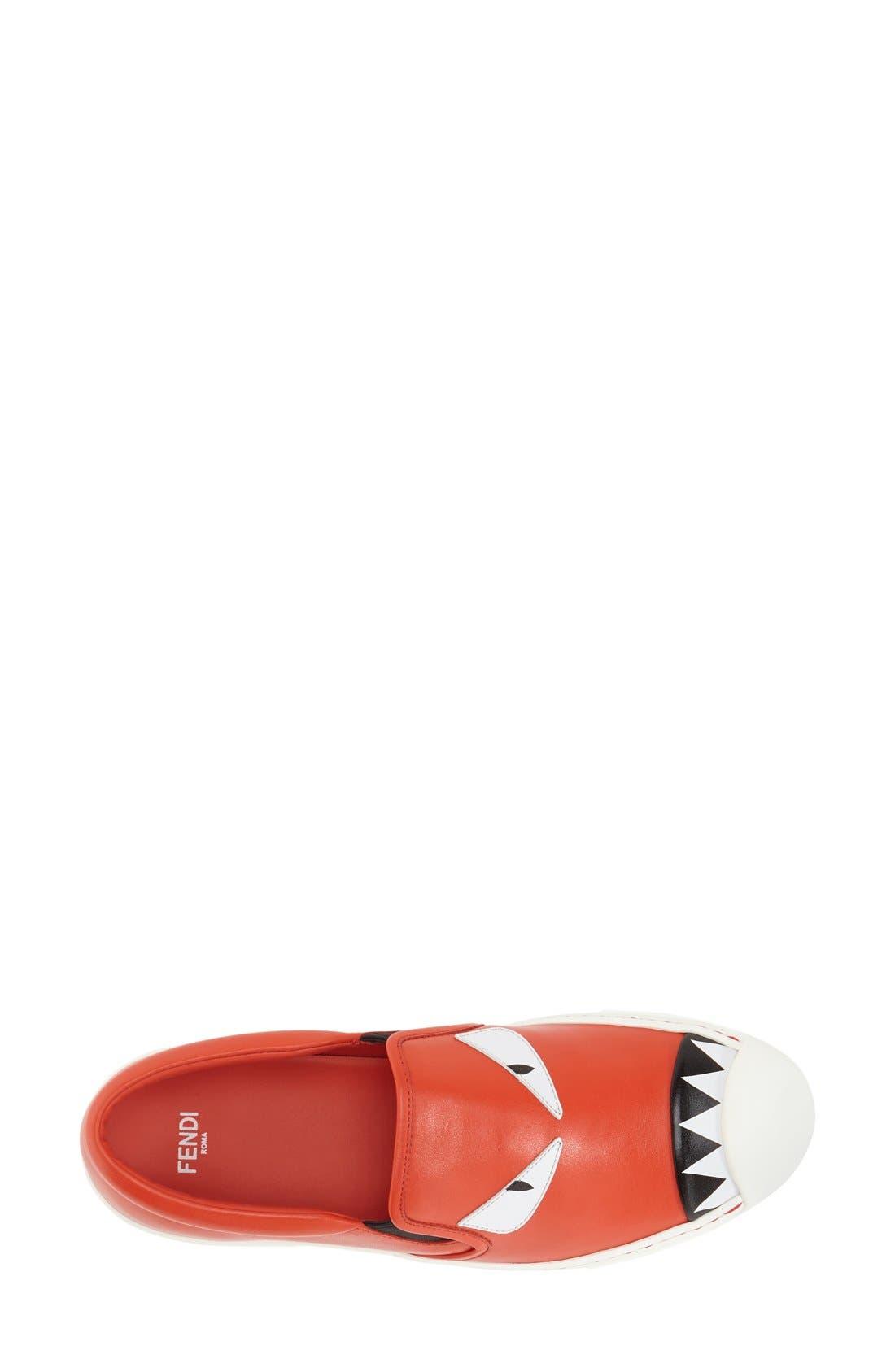 Monster Sneaker,                             Alternate thumbnail 3, color,                             Papvero Leather