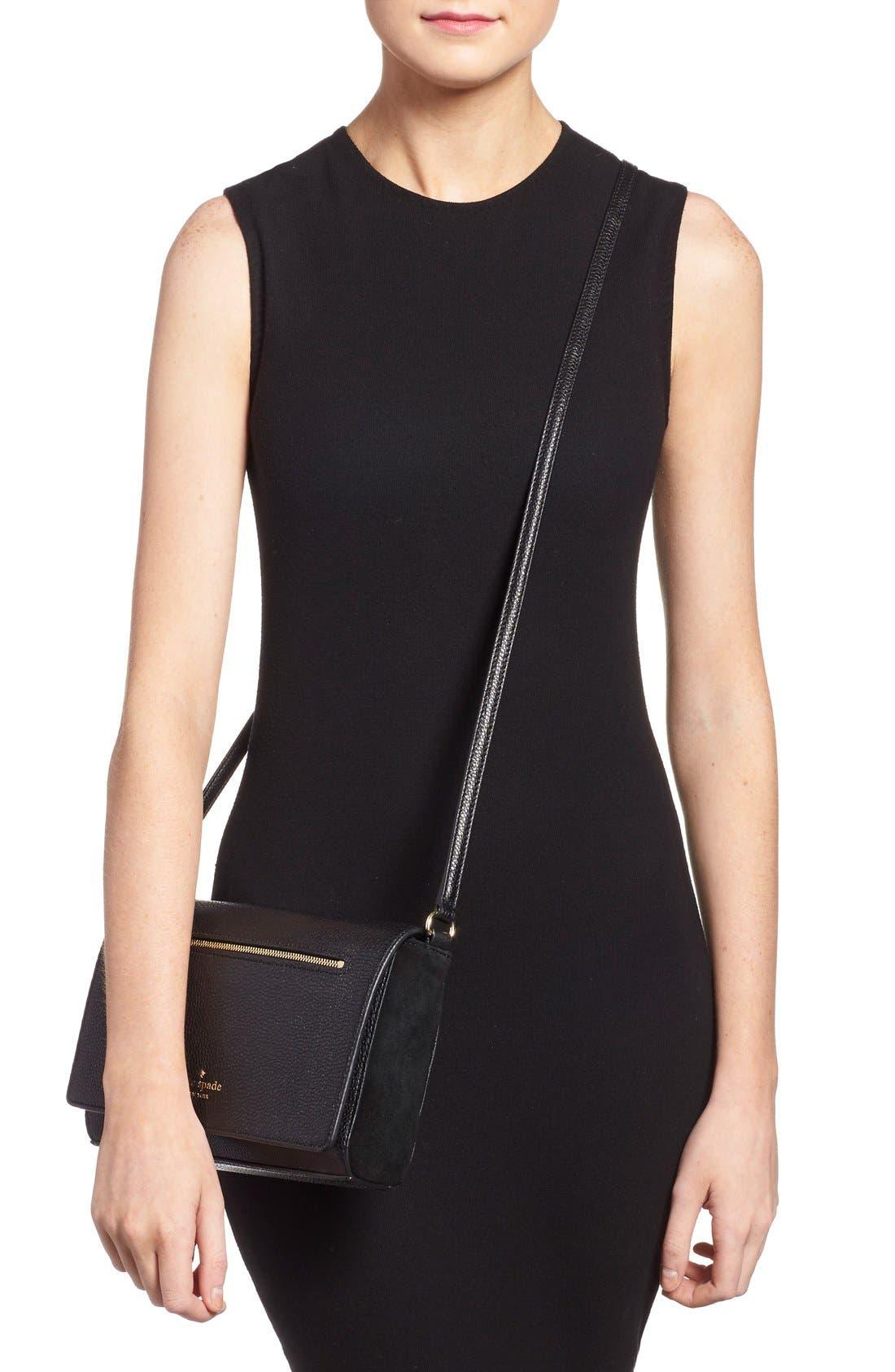Alternate Image 2  - kate spade new york 'matthews drive - patty' leather & suede crossbody bag