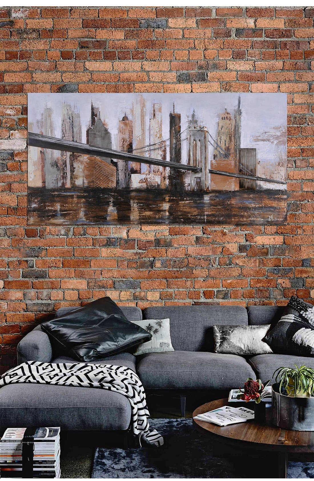 'Urban Style' Canvas Wall Art,                             Alternate thumbnail 2, color,                             Brown