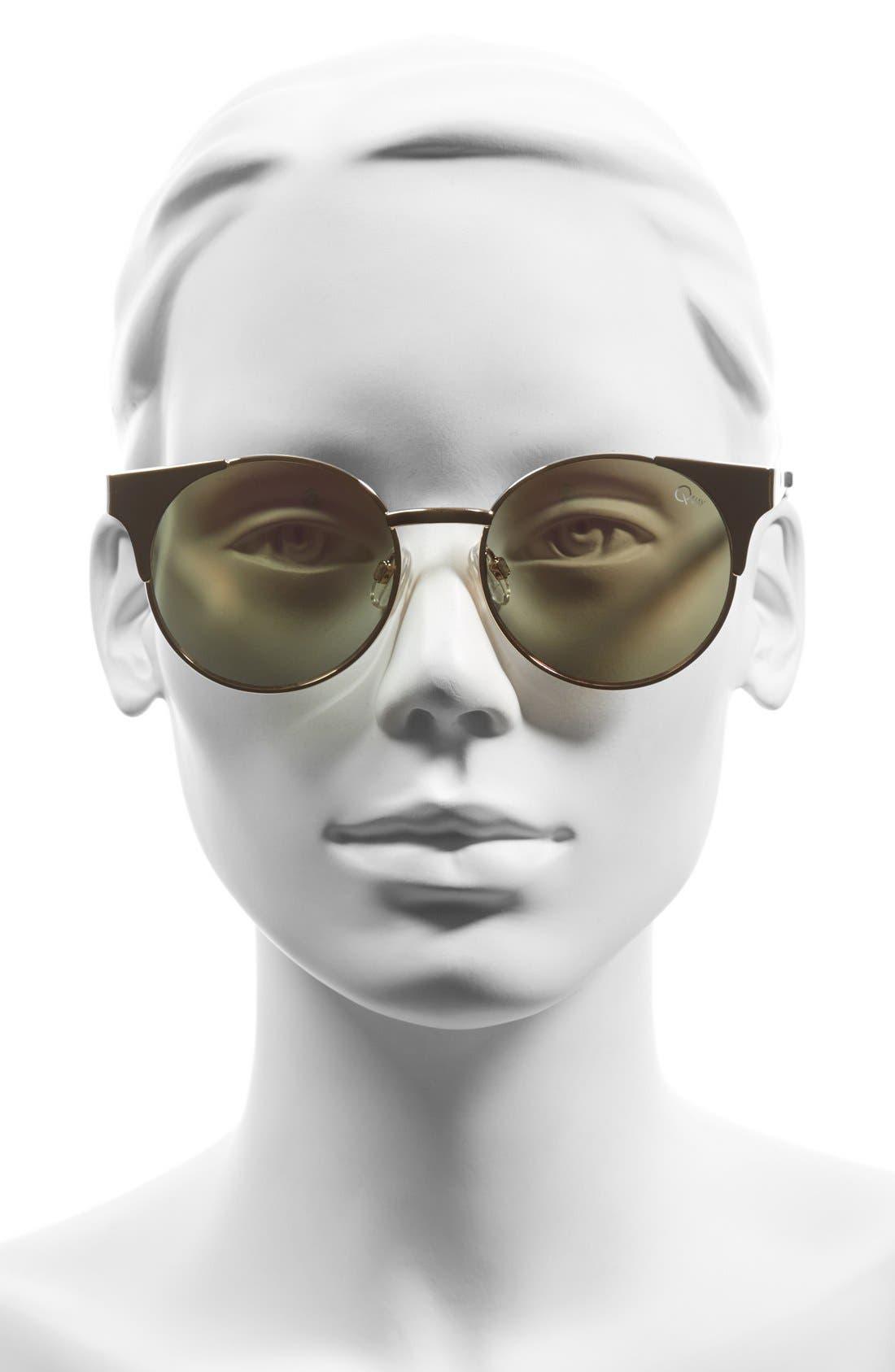 Alternate Image 2  - Quay Australia 'Asha' 50mm Metal Sunglasses