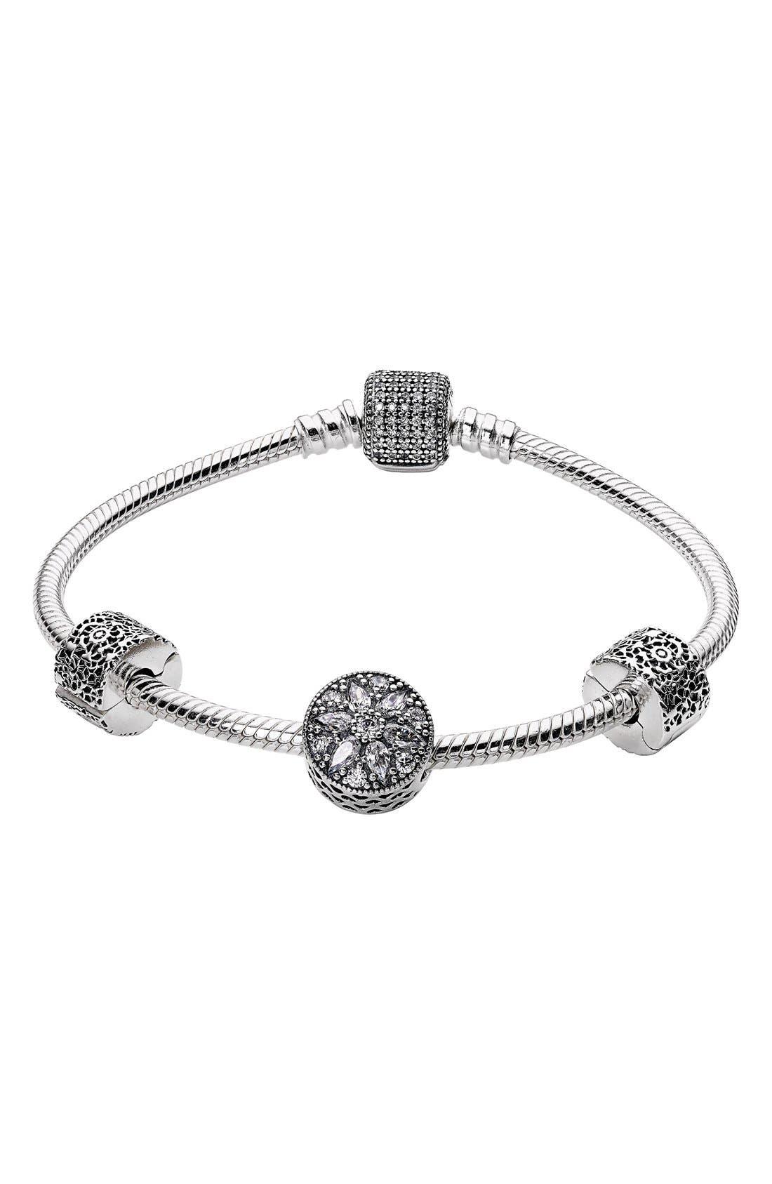 Alternate Image 1 Selected - Pandora 'Glistening Wonder' Bracelet Gift Set ($240 Value)