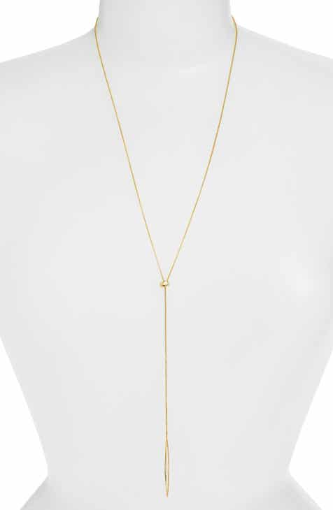 Womens long strand necklaces nordstrom nadri tattoo encrusted lariat necklace aloadofball Images