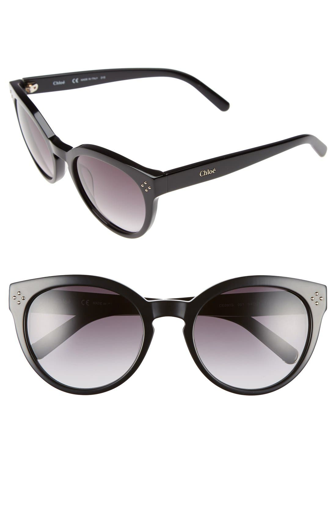 Alternate Image 1 Selected - Chloé 'Boxwood' 54mm Round Sunglasses