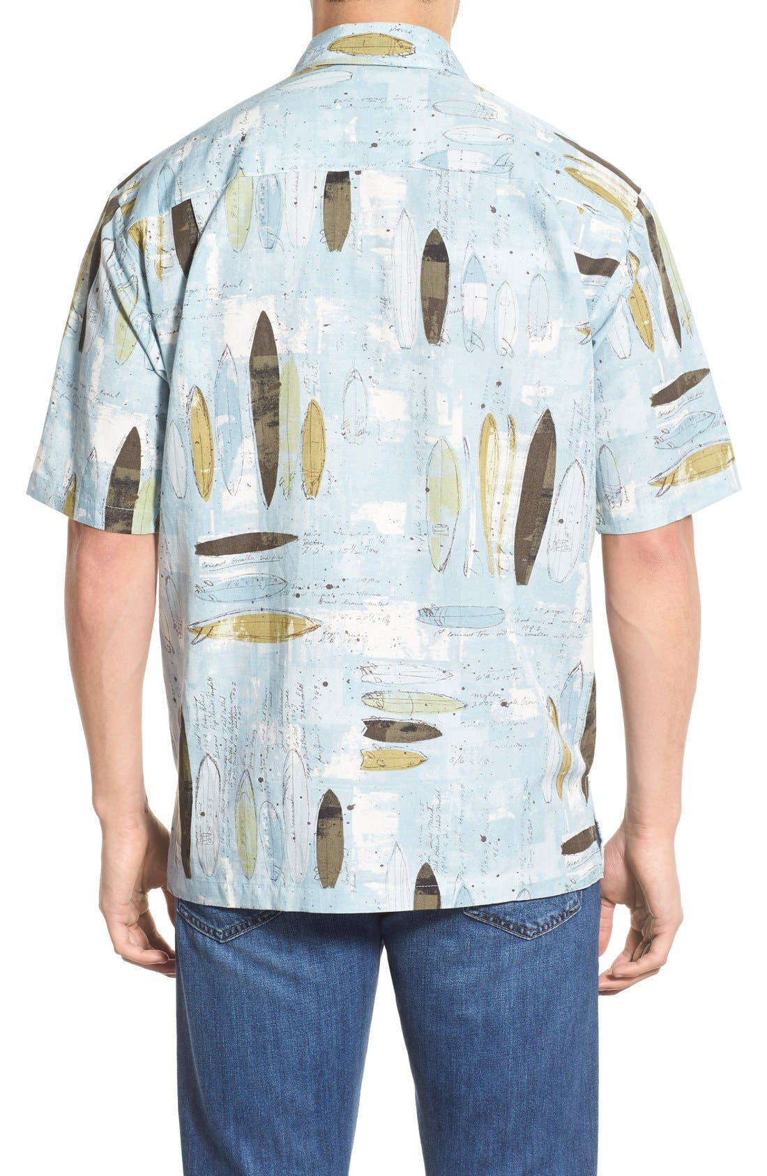 'Surfboard' Regular Fit Sport Shirt,                             Alternate thumbnail 2, color,                             Surf