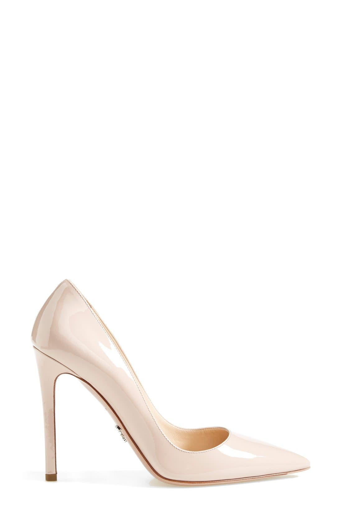 Pointy Toe Pump,                             Alternate thumbnail 4, color,                             Cipria Patent