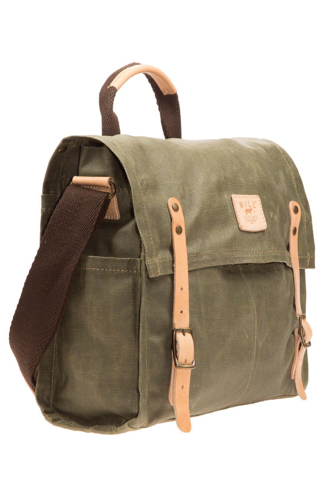 Alternate Image 5  - Will Leather Goods Waxed Canvas Messenger Bag