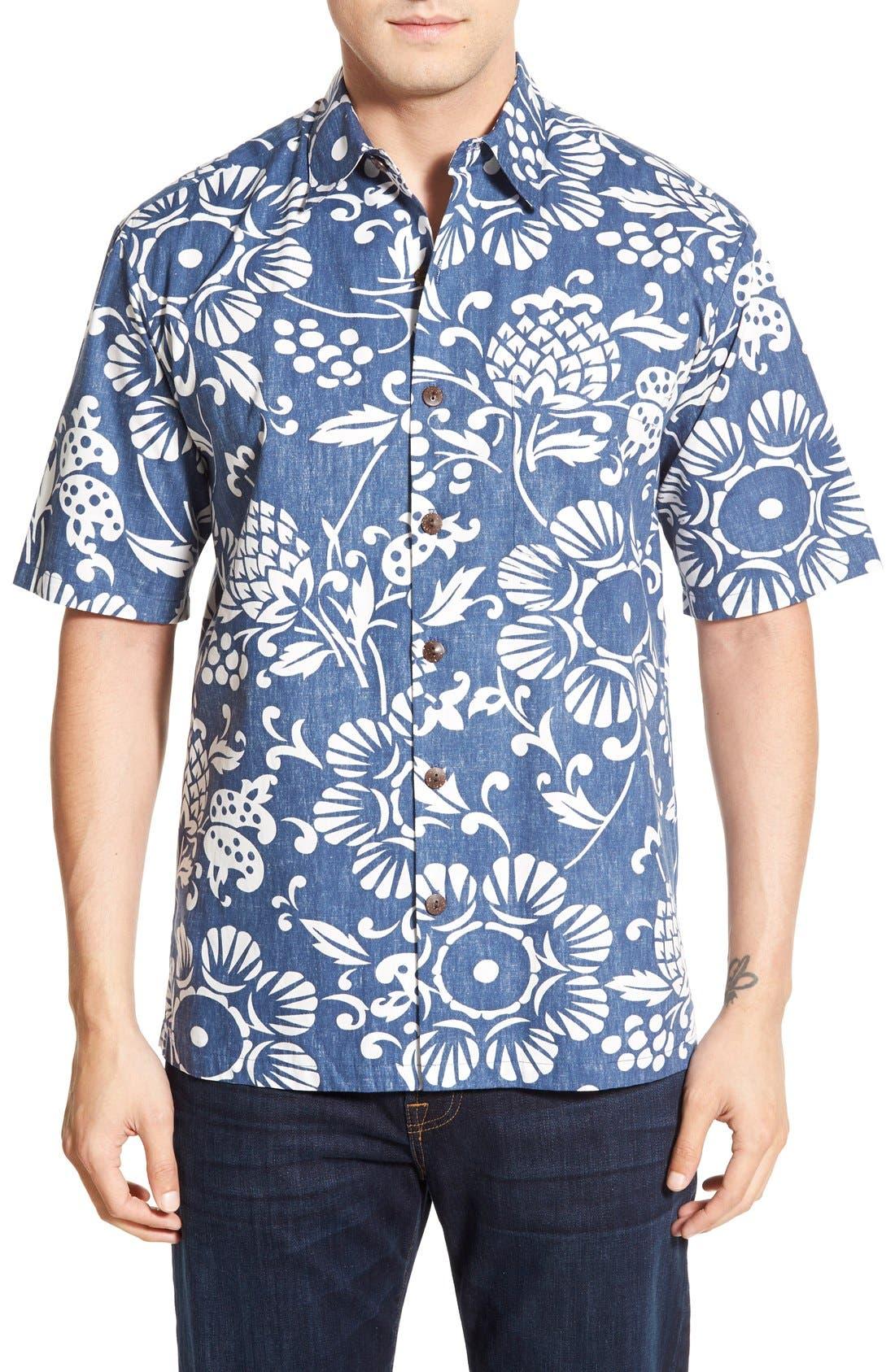 'Dukes Par' Regular Fit Sport Shirt,                         Main,                         color, Navy