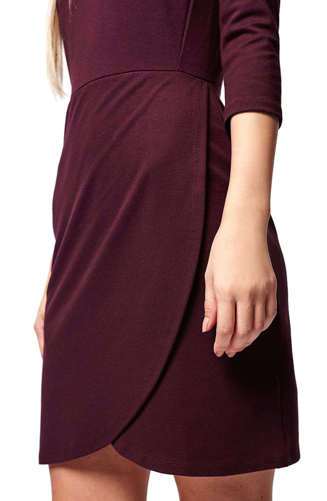 Alternate Image 5  - Topshop Faux Wrap Body-Con Dress