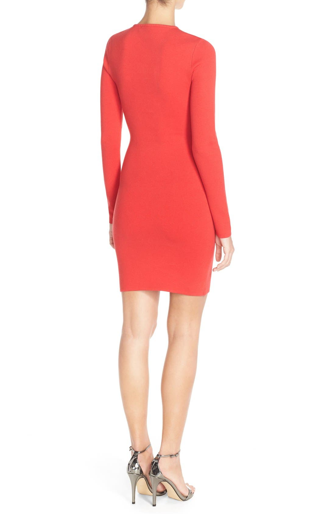 Alternate Image 2  - BCBGMAXAZRIA 'Fyonna' Cutout Sweater Body-Con Dress