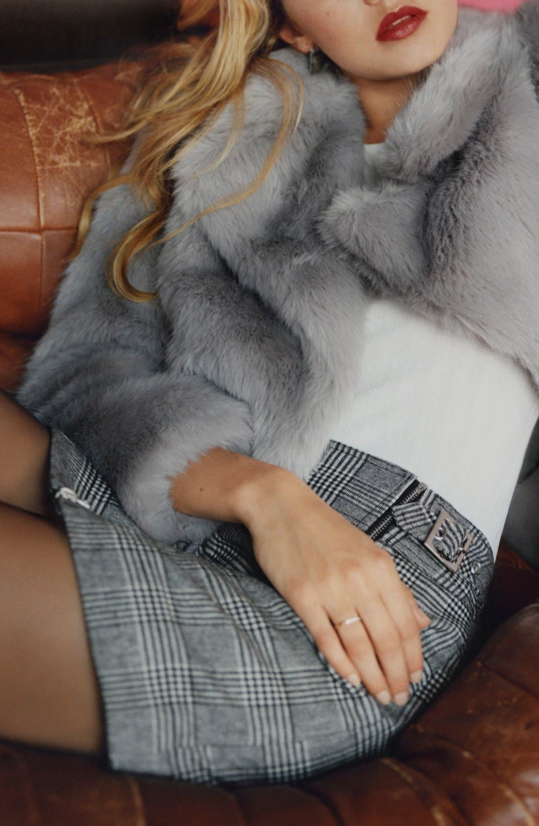 Alternate Image 6  - Topshop 'Claire' Faux Fur Coat