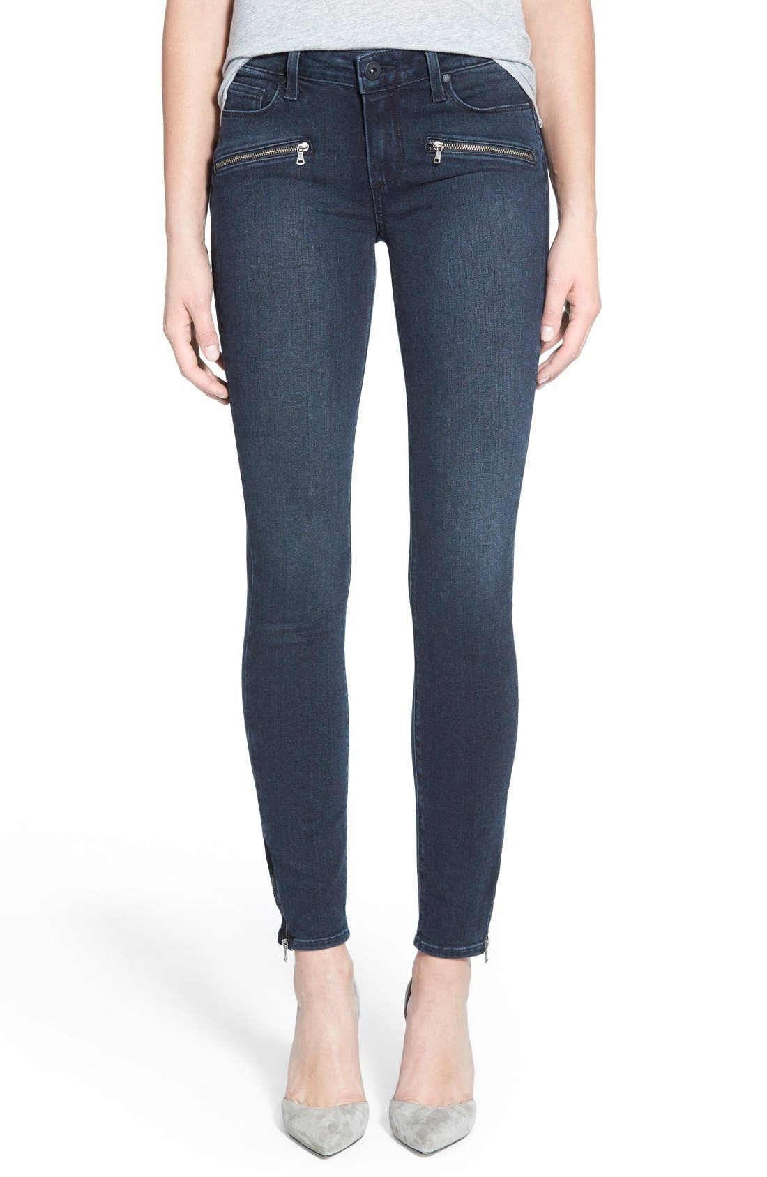 Denim 'Jill' Ultra Skinny Jeans,                             Main thumbnail 1, color,                             Reed No Whiskers