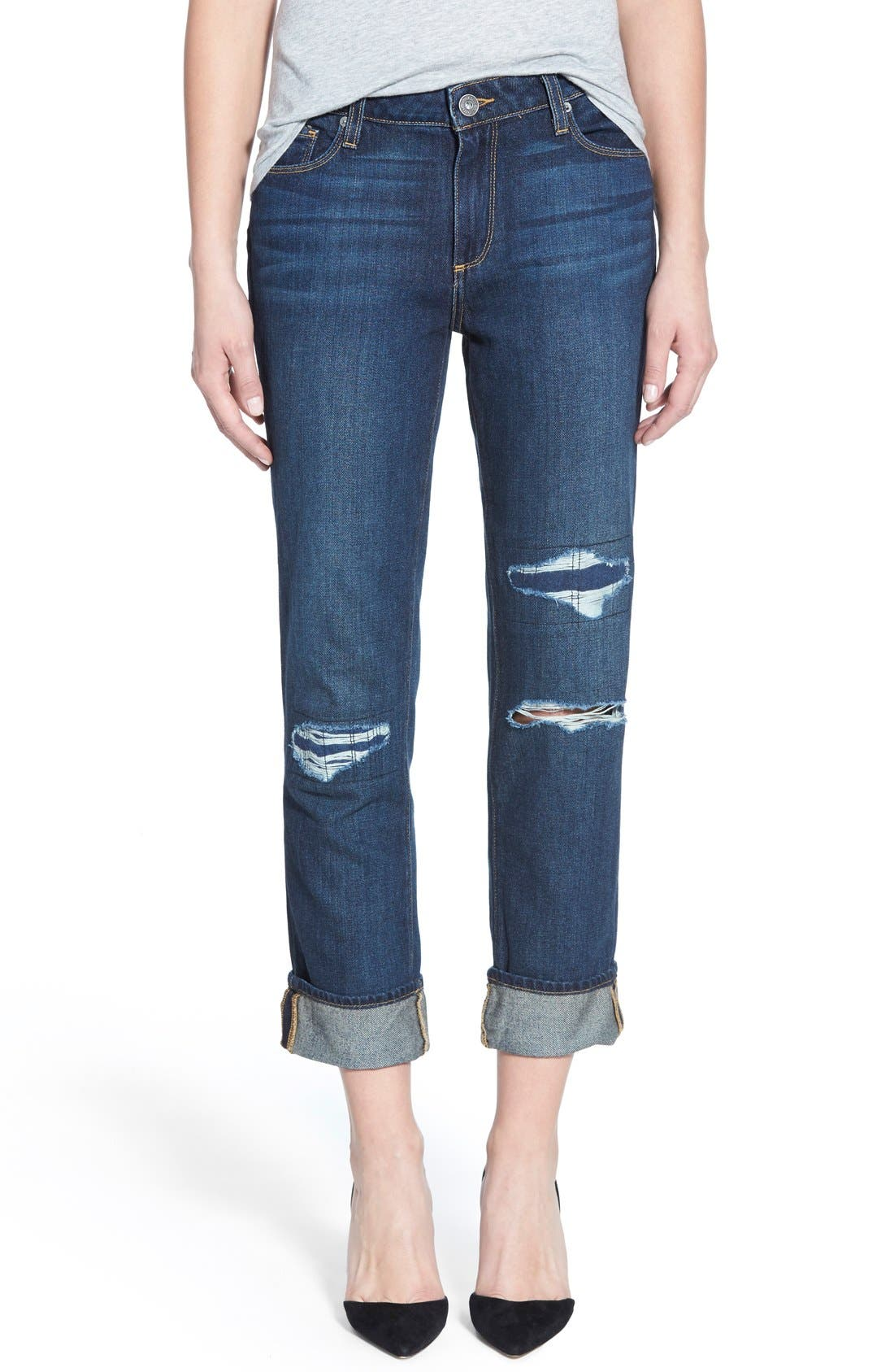 Alternate Image 1 Selected - Paige Denim 'Porter' Boyfriend Jeans (Talley Destructed)