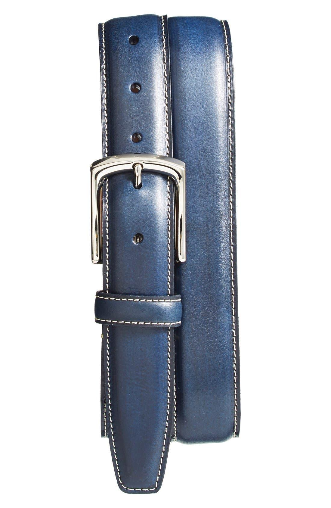 Main Image - Torino Belts Burnished Leather Belt