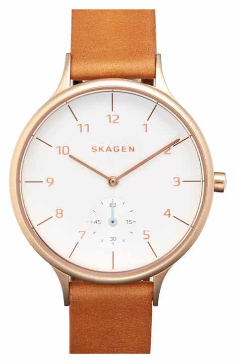 9510a069e0bbe Skagen  Anita  Leather Strap Watch