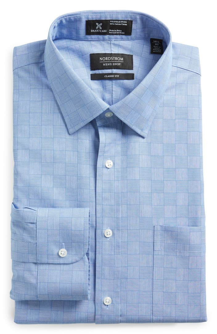 Nordstrom men 39 s shop smartcare wrinkle free classic fit Best wrinkle free dress shirts