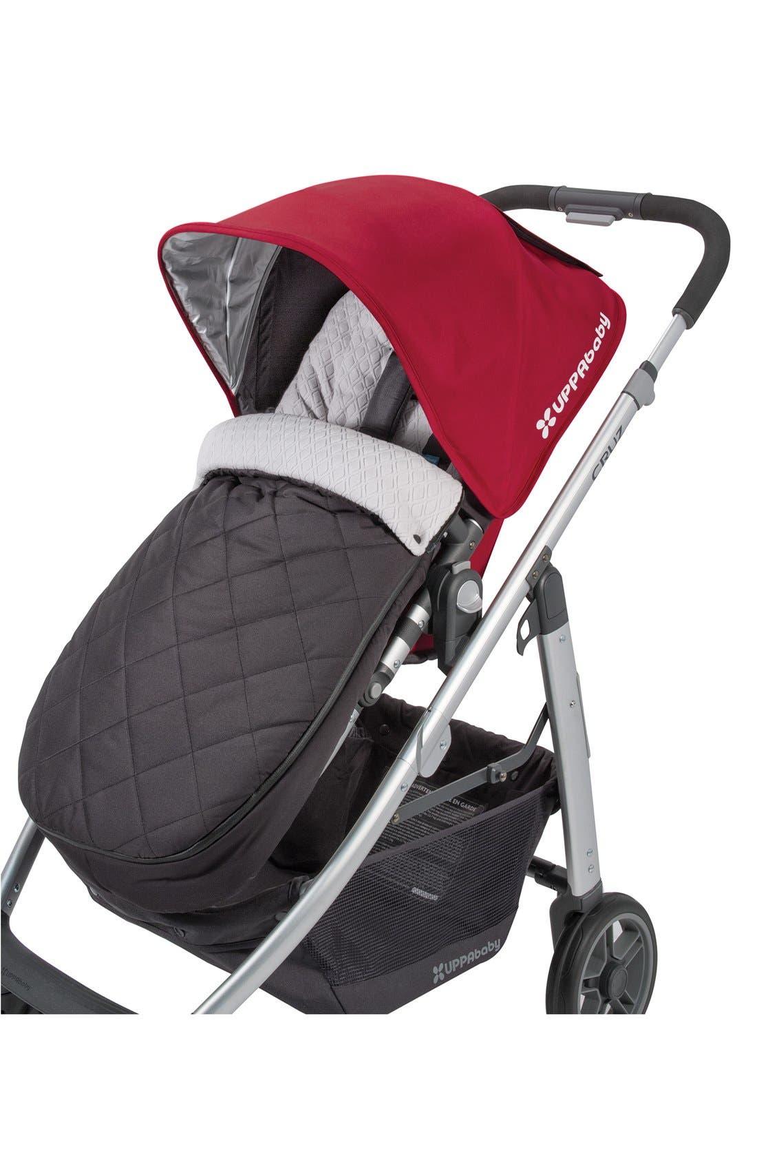 CozyGanoosh Water Resistant & Insulated Stroller Footmuff,                             Main thumbnail 1, color,                             Black